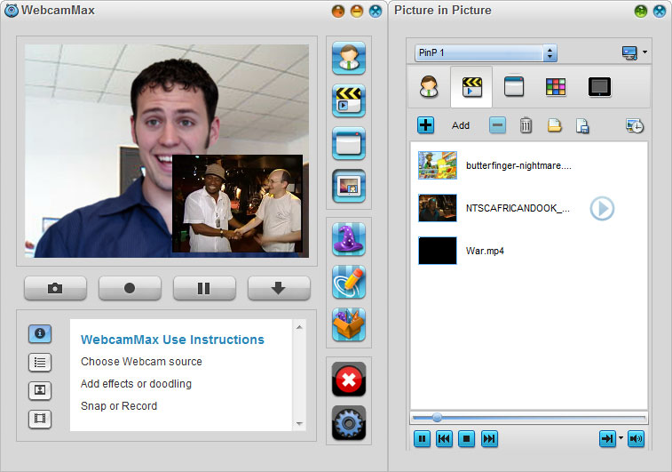 WebcamMax 7,Picture In Picture