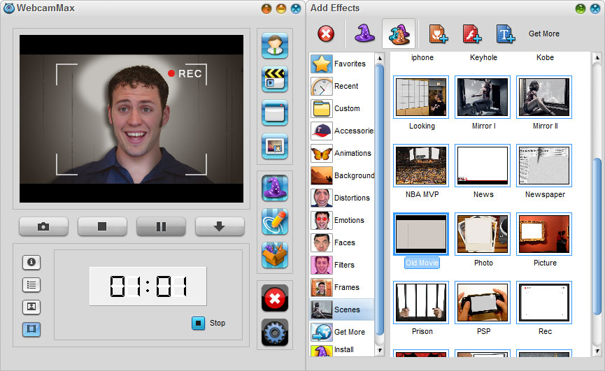 WebcamMax 7,Record Video