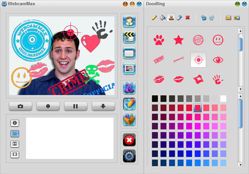 Doodling :: Add Stamp On Webcam