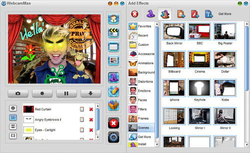 WebcamMax :: Add thousands of fantastic effects to webcam video for your live chats and recording